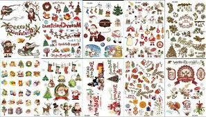 new 5sheets christmas tree snow deer gift funny temporary tattoo