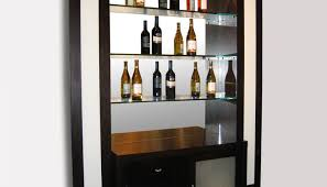 Gray Bar Cabinet Bar Simple Black Wooden Home Bar Cabinet Designs With Opened