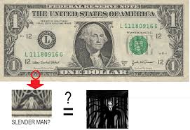 Slender Man Know Your Meme - slenderman on the dollar bill slender man know your meme