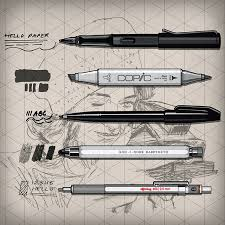 keep it simply sketch kiss pro pens rotring 600 lamy fountain