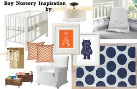 paddington nursery classic boy navy blue orange nursery paddington way