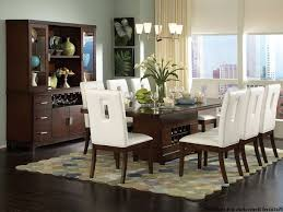 Solid Wood Formal Dining Room Sets Furniture Rectangular Cream Fabric Motif Stacking Chairs Modern