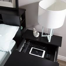 Ipad Nightstand Nightstand Dazzling Nightstand With Charging Station Carson