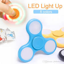 fidget spinner light up blue 2017 led light up hand spinners fidget spinner top quality triangle