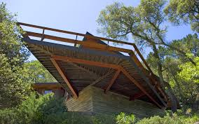 cantilevered deck redwood architecture marin county mid century modern buy redwood