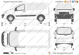 peugeot expert the blueprints com vector drawing peugeot expert van