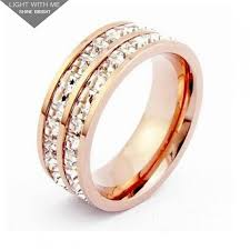 cartier rings images Cartier 2 row wedding band ring in 18k pink gold pave diamonds jpg