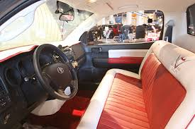 Custom Car Bench Seats First Look Toyota Tundra Rod At Sema Pickuptrucks Com