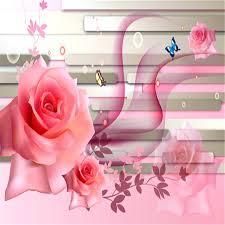 wallpaper luxury pink beibehang pink roses butterfly modern luxury wall murals wallpaper