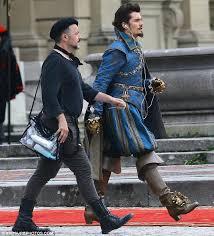 orlando bloom takes sword musketeers