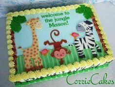 zoo animal baby shower cakes for a boy baby shower cakes a