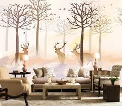 online get cheap deer wall mural aliexpress com alibaba group 3d wallpaper for room modern minimalist nordic retro american deer forest background wall mural 3d wallpaper