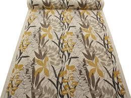 Curtain Upholstery Fabrics Harlequin Designer Cotton Jute Floral Heavy Prints Curtain