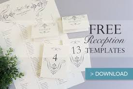 free printable wedding reception templates the budget savvy