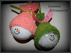 create a sparkly snowman ornament to hang on your tree