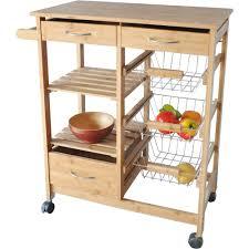 costway rolling kitchen trolley island cart drop leaf w storage