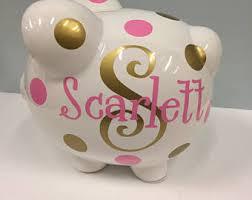 monogram piggy bank child piggy bank etsy