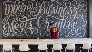 hand lettering 200 sq ft chalkboard time lapse at zion zion