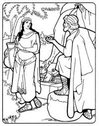 sunday coloring page abraham u0026 isaac final banners