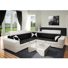 canapé tissu blanc canapé angle réversible avec tétières ajustables en pvc blanc et