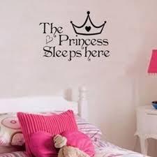 princess baby room decor baby princess sleeps here quotes wall sticker girl gift bedroom nursery download