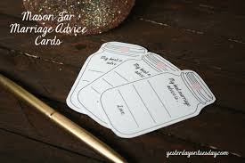Advice Cards For Bride Glitter Mason Jar And Marriage Advice Cards Yesterday On Tuesday