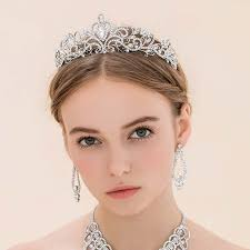 wedding tiara pageant king crown pearl princess tiara diadem