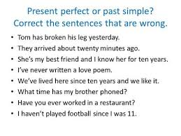 present perfect and past simple ppt video online download