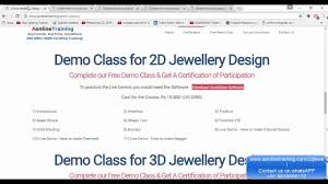 Cad Design Jobs From Home by Online Jewellery Designing Courses Cad Cam Free Demo Class