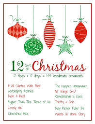 12 Days Of Christmas Craft Ideas