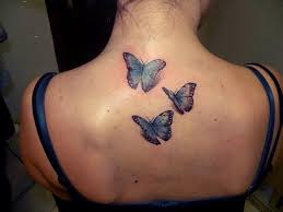 butterfly tattoos on the back gallery of neck 3d design idea
