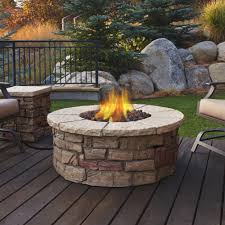 Firepit Images Hton Bay 36 In Envirostone Propane Pit