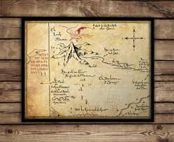 Lord Of The Rings Map The Hobbitthorin U0027s Map Map Of Erebor Thrór U0027s Map