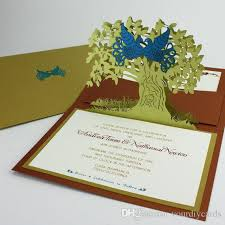pop up wedding invitations pop up cards two birds 3d laser cutting wedding invitaitons