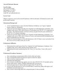 Aircraft Mechanic Resume Application Letter For Technician Position Job Resume Templates