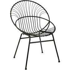 Side Accent Chairs by Imax Worldwide Reserve Black Iron Round Accent Chair Sunroom