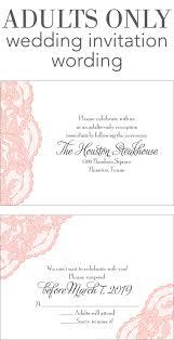 adults only wedding invitation wording dancemomsinfo com