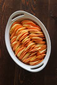 sweet potato thanksgiving side dish sweet potato and apple gratin the bay leaf kitchen