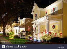 Traditional Style Home These Traditional Victorian Style Homes In A Christmas Town