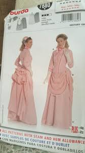 victorian costume pattern burda 7880 dressmaking patterns