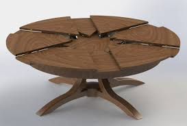 Extendable Round Dining Table Wood Dining Room Expanding Dining - Kitchen table round