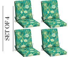 mainstays outdoor patio dining chair cushion green texture red