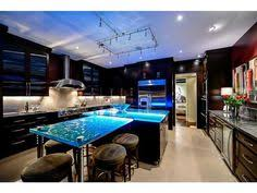 glass countertop kitchen elevated textured glass countertop with embedded led lights