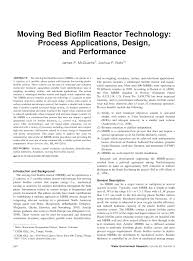 moving bed biofilm reactor technology process applications