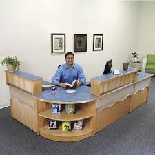 Library Reference Desk Circulation Desks Atlantis Modular Wood Circulation Desk