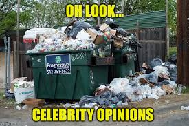 oh look celebrity opinions meme