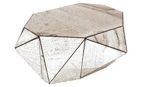 Mirrored Tables Faceted Mirror Coffee Table Jayson Home Round Mirrored Tables