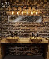 Gold Bathroom Vanity Lights by Vanity Light Wall Light Beer Bottles Plumbing Pipebathroom