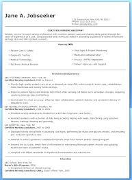 resume template nursing nursing assistant resumes certified nurses assistant resume