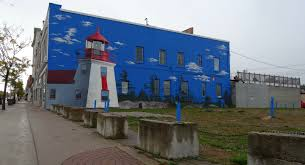 a day exploring midland s murals the world as i see it brebeuf lighthouse build in the 1900 s this lighthouse helped guide ships to the channel serving midland bay